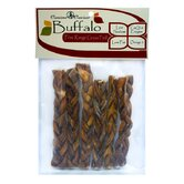 6&quot; Buffalo Stix Braided Dog Treat (6-Pack)