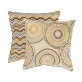 Riley and Wave Throw Pillows (Set of 2)