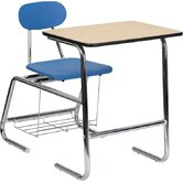 "Hercules Series Natural Laminate 31.25"" Student Combo Desk"
