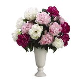 "26"" Peony Floral Arrangement with Ceramic Vase"
