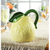 Fresh Fruit Ceramic Lemon Pitcher in Yellow