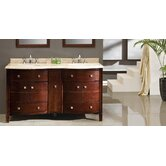 "Oslo 60"" Double Bathroom Sink Vanity"