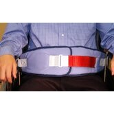 Resident-Release Cushion Belt with Velcro Closure with Red Loop