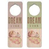 &quot;Dream Time&quot; Wooden Doorknob Sign in Distressed Pink