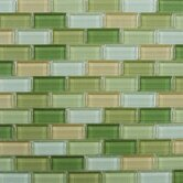 "Shimmer Blends 12"" x 12"" Glossy Mosaic in Garden"