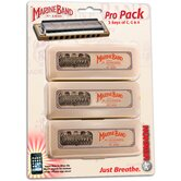 Marine Band Pro Pack Harmonica in Chrome - Key of C, G, A