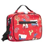 Olive Kids Ride 'Em Lunch Bag in Red