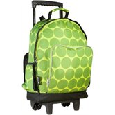 Big Dots Green High Roller Rolling Backpack