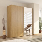 Julia 2 Door Sliding Wardrobe with One Mirrored Door