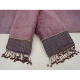 Silk Strie Lavender/Purple 3-Piece Decorative Towel Set