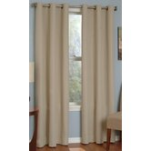 Microfiber Grommet Blackout Window Panel in Beige
