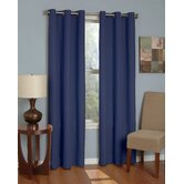 Microfiber Grommet Blackout Window Panel in Navy