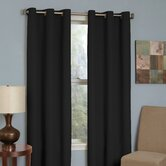 Microfiber Grommet Blackout Window Panel in Black