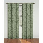 Meridian Grommet Blackout Window Panel in Green
