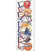 Sports Pennant Growth Chart Wall Art
