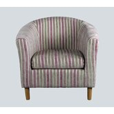 April Tub Chair in Pink Stripes