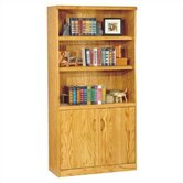 "Waterfall 70"" H Bookcase with Lower Doors"