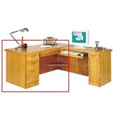 "Waterfall Executive 29"" H x 66"" W Left Desk Return"