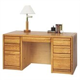 "32"" Contemporary 7-Drawer Executive Desk"