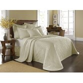 King Charles Matelasse Bedspread Bedding Collection in Ivory
