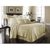 King Charles Matelasse Coverlet Bedding Collection in Ivory