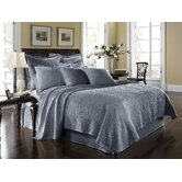 King Charles Matelasse Coverle Bedding Collectiont in Powder Blue