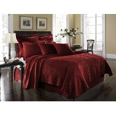 King Charles Matelasse Coverlet Bedding Collection in Scarlett