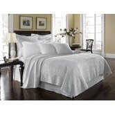 King Charles Matelasse Coverlet Bedding Collection in White