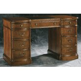 Round Front Pedestal Desk