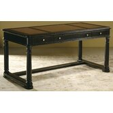 Dawson Table Desk with Leather Inlay