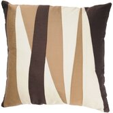 "T-2512 18"" Decorative Pillow in Ivory / Brown"