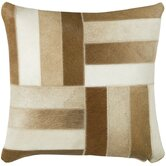 "T-3977 18"" Decorative Pillow in Brown / White"