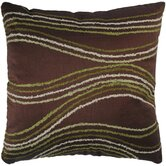 "T-2228A 18"" Decorative Pillow in Brown"