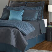 London Comforter Set in Charcoal / Peacock