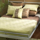 Studio Quilted Reversible Cap Bedding Set in Green / Brown