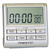 Electronic Clock Timer in Silver