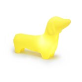 Dachshund Dog Pet Lamp in Mellow Yellow