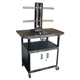 Mobile Plasma / LCD Stand with Cabinet (40&quot; High)