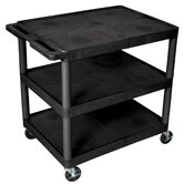 "33.5"" 3 Shelf Heavy Duty Cart"