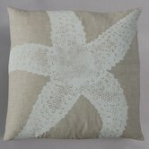 Starfish White Pillow on Natural Linen