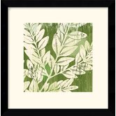 'Meadow Leaves' by Erin Clark Framed Painting Print