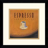 Espresso Framed Print by Jillian David Design