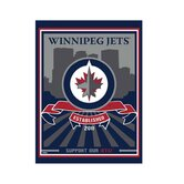 Winnipeg Jets Logo Canvas Art