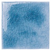 "Cape Cod 6"" x 6"" Surface Bullnose in Ocean Blue Crackle"