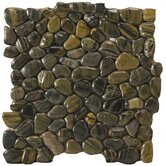 "12"" x 12"" Rivera Pebble Mosaic in Forest"