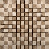 "1"" x 1"" Travertine Mosaic in Beige / Mocha"