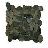 "Rivera 12"" x 12"" Flat Pebble Mosaic in Olive"