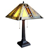 Tiffany Style Mission Table Lamp