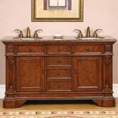 "60"" Bedford Double Bathroom Vanity"