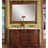 "Olivia 58"" Double Sink Bathroom Vanity Cabinet"
